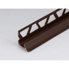 Профиль ПВХ: раскладка под плитку 9 - 10 мм коричневая внутренняя 2.5 м