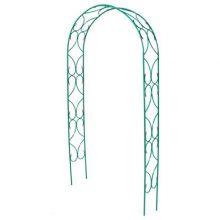 Арка Узор-2 садовая-разборная Клевер-С металическая зеленый 2.5х1.2