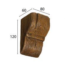 Консоль Cosca для балки дуб темный, 90 х 60 мм