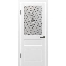 Полотно остекленное Честер Эмаль Белый 200x60 см