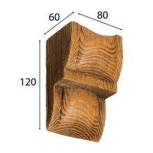 Консоль Cosca для балки дуб светлый 90 х 60 мм