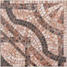 Керамогранит PiezaROSA Персия псевдо-мозаика коричневый 33х33 см