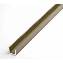 Швеллер Лука анодированный 10 х 12 х 10 х 1.5 мм бронза 1 м