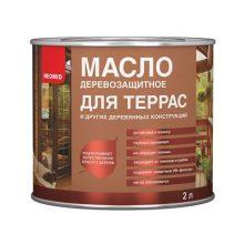 Масло для защиты древесины Neomid для террас орех 2 л