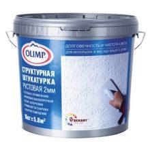 Штукатурка акриловая Olimp рустовая 2 мм 16 кг белая