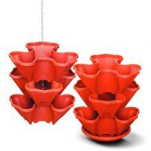 Каскад для цветов на 3 горшка с поддоном и цепочкой