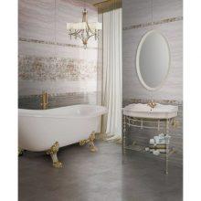 Плитка настенная Нефрит-Керамика Прованс светло-серый 60х20 см