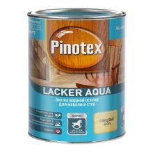 Лак Pinotex Lacker Aqua на водной основе для мебели и стен глянцевый 1 л