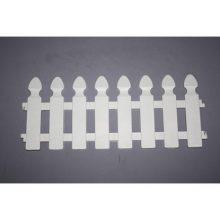 Забор декоративный для цветника белый