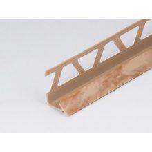 Профиль ПВХ: раскладка под плитку 7 - 8 мм бежевая внутренняя 2.5 м