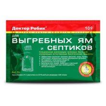 Средство Доктор Робик 109 для выгребных ям и септиков 75 гр