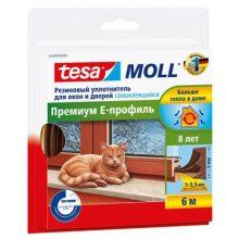 Уплотнитель Tesa Е-профиль резиновый коричневый