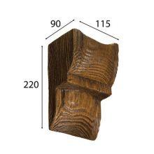 Консоль Cosca для балки дуб темный 120 х 120 мм