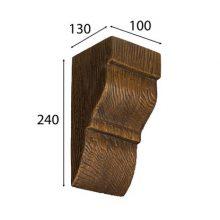 Консоль Cosca для балки дуб темный 150 х 120 мм