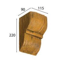 Консоль Cosca для балки дуб светл ый 120 х 120 мм