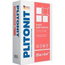 Клей для укладки Плитонит Вб быстротвердеющий 25 кг