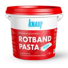Шпаклевка КНАУФ Ротбанд Паста Профи на виниловой основе, финишная, готовая, 5 кг