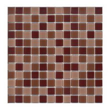 Мозаика ELADA Crystal темно-шоколадный 32,7x32,7 см