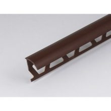 Профиль ПВХ: раскладка под плитку 9 - 10 мм коричневая наружная 2.5 м
