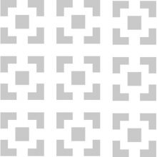 Панель перфорированная Loccato Damasco белая HDF 600 х 1220 х 3 мм