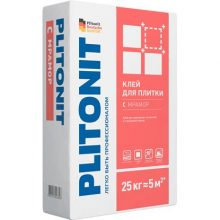 Клей для укладки Плитонит С мрамор 25 кг