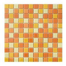 Мозаика ELADA Crystal желто-оранжевый 32,7x32,7 см