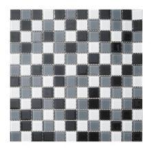 Мозаика ELADA Crystal черно-белый 32,7x32,7 см