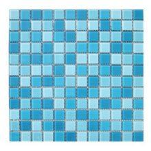 Мозаика ELADA Crystal бело-голубой 32,7x32,7 см