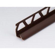 Профиль ПВХ: раскладка под плитку 7 - 8 мм коричневая внутренняя 2.5 м