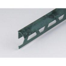 Профиль ПВХ: раскладка под плитку 7 - 8 мм зеленая наружная 2.5 м