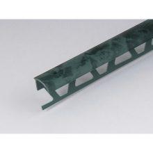 Профиль ПВХ: раскладка под плитку 9 - 10 мм зеленая наружная 2.5 м