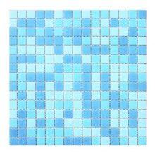 Мозаика ELADA Econom бело-голубой 32,7x32,7 см