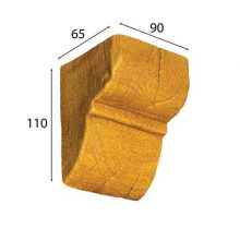 Консоль Cosca для балки орех медовый 60 х 90 мм